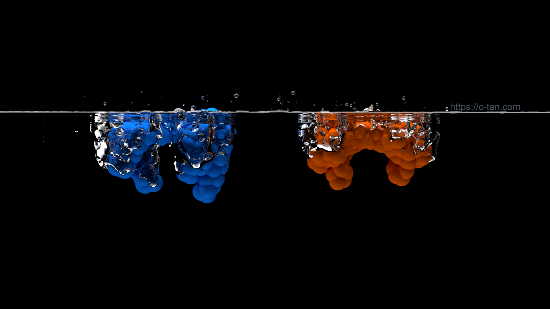 CG simulations of protein solvation.